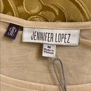 Jennifer Lopez Tops - NWT Jennifer Lopez tan / blk lace butterfly top